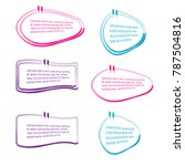 collection of bubble speech... | Shutterstock .eps vector #787504816