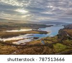 aerial view of loch awe in... | Shutterstock . vector #787513666
