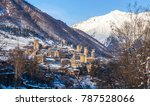 medieval towers in mestia in... | Shutterstock . vector #787528066