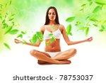 attractive brunette woman in... | Shutterstock . vector #78753037