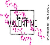 valentines day card with pink... | Shutterstock .eps vector #787530472