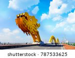 da nang  vietnam  dragon bridge ... | Shutterstock . vector #787533625