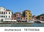 old buildings and a canal in... | Shutterstock . vector #787540366