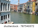 old buildings and a canal in... | Shutterstock . vector #787540372