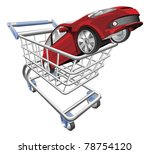 an illustration of a shopping... | Shutterstock .eps vector #78754120