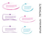 collection of quote box bubble... | Shutterstock .eps vector #787543672