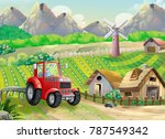 cartoon farm house | Shutterstock . vector #787549342