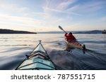 Adventure Man On A Sea Kayak I...