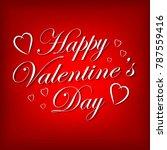 valentines day lettering...   Shutterstock .eps vector #787559416