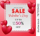 valentine's day sale banner | Shutterstock . vector #787559452