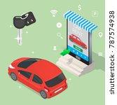 online rental car service... | Shutterstock .eps vector #787574938