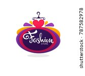 fashion boutique and store logo ... | Shutterstock .eps vector #787582978
