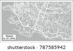 genoa italy city map in retro... | Shutterstock .eps vector #787585942