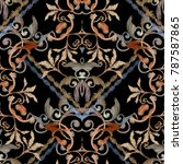 striped embroidery baroque...   Shutterstock .eps vector #787587865