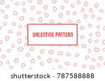 vector heart pattern. design of ... | Shutterstock .eps vector #787588888
