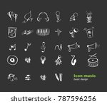 icon music style with black... | Shutterstock .eps vector #787596256