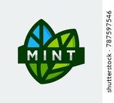 mint logo template vector...   Shutterstock .eps vector #787597546
