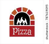 pizza oven logo | Shutterstock .eps vector #787619095