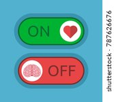 heart switched on and brain off ... | Shutterstock . vector #787626676