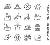 spa icon set. included the... | Shutterstock .eps vector #787628482