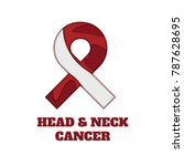head and neck cancer awareness... | Shutterstock .eps vector #787628695