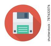 floppy disk device    Shutterstock .eps vector #787632076