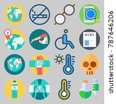 icon set about medical. with... | Shutterstock .eps vector #787646206