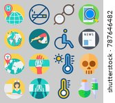 icon set about medical. with... | Shutterstock .eps vector #787646482