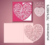 laser cut wedding invitation or ... | Shutterstock .eps vector #787648876