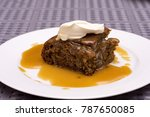 sticky date pudding | Shutterstock . vector #787650085
