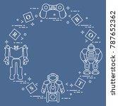 toys for children  robots ... | Shutterstock .eps vector #787652362