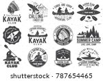 set of canoe and kayak club... | Shutterstock .eps vector #787654465