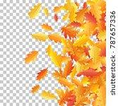 windy flying oak leaf abstract... | Shutterstock .eps vector #787657336