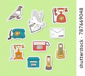 means of communication stickers.... | Shutterstock .eps vector #787669048