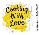 food poster print lettering.... | Shutterstock .eps vector #787672882