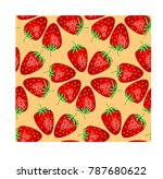seamless pattern with ripe ... | Shutterstock .eps vector #787680622