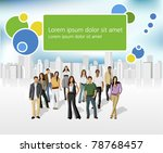 template of a group of business ... | Shutterstock .eps vector #78768457