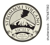 stamp with words stromboli... | Shutterstock .eps vector #787687582