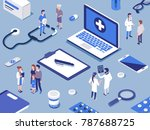 different medical staff with... | Shutterstock .eps vector #787688725