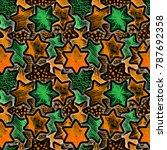 festive magic seamless pattern... | Shutterstock . vector #787692358