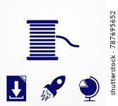 illustration of a dental floss...