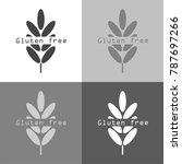 vector set icon gluten free.... | Shutterstock .eps vector #787697266