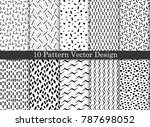 vector damask pattern... | Shutterstock .eps vector #787698052