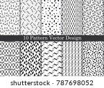 vector damask pattern... | Shutterstock .eps vector #787698052