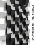 abstract composition of black... | Shutterstock . vector #787698526