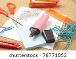 close up view of the office... | Shutterstock . vector #78771052