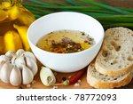 Crusty Bread Ciabatta And Bowl...