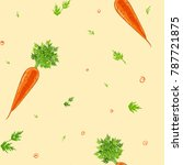 carrot seamless pattern on... | Shutterstock .eps vector #787721875