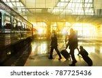 businessmen walking along a... | Shutterstock . vector #787725436
