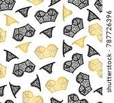 cute lingerie pattern | Shutterstock .eps vector #787726396